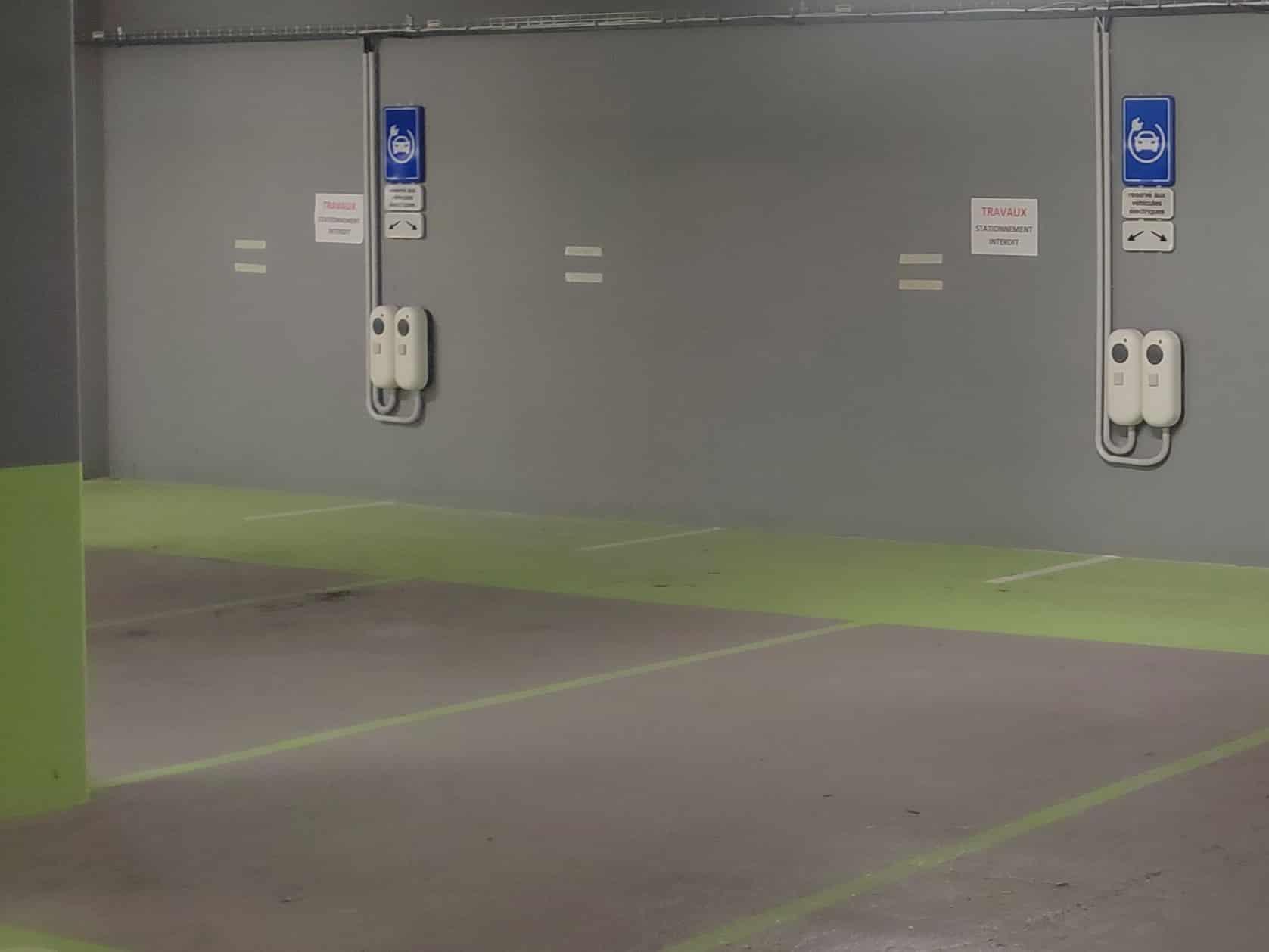 borne de charge parking souterrain véhicule électrique Icade