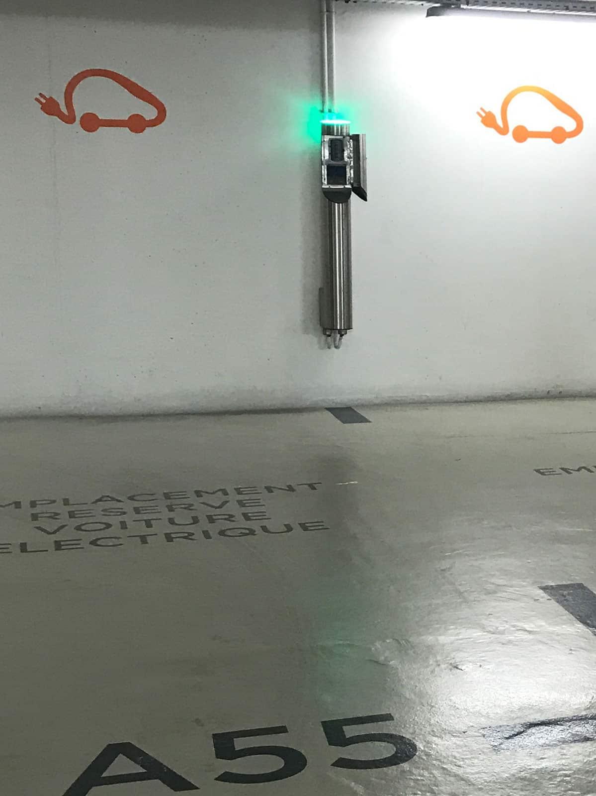 borne de recharge parking souterrain véhicule électrique Icade