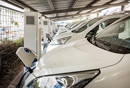 Recharge flotte véhicules électriques